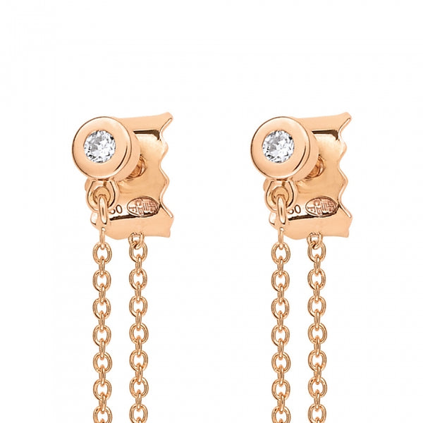 GINETTE NY Double Lonely Diamond Earrings