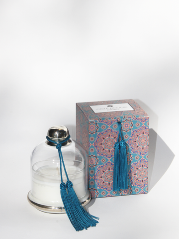 COTE BOUGIE Candle Cloche in Ble Paon Frangpanier