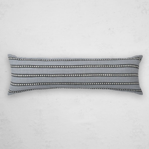 BOLE ROAD Kombolcha Lumbar Pillow in Mist