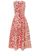 CAROLINA HERRERA Animal Print Fit and Flare Sleeveless Midi Dress