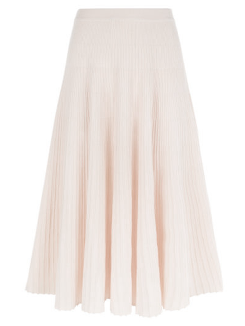 CÉDRIC CHARLIER Knit Ribbed Skirt