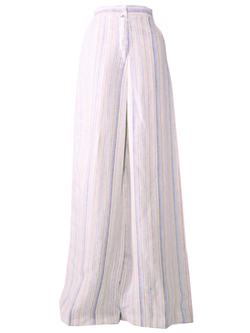 CHRISTOPHER JOHN ROGERS High Waisted Pleated Pant - Rainbow Stripe