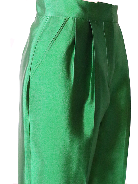 CHRISTOPHER JOHN ROGERS Pleated Tapered Pant - Emerald