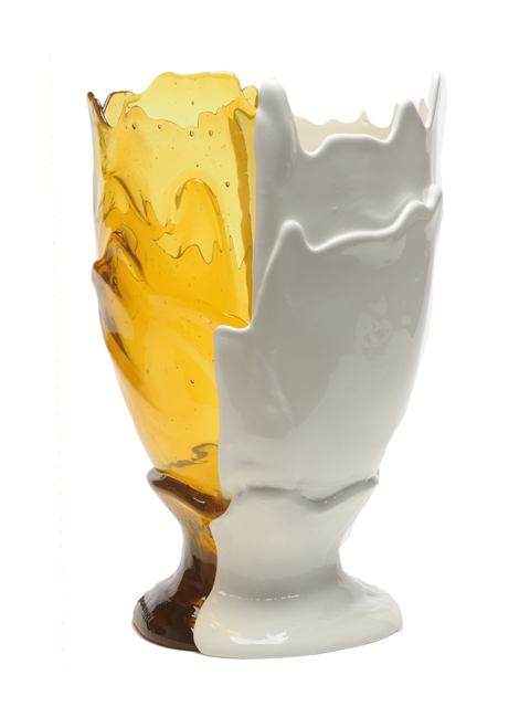 CORSI Twins Vase in Amber/White