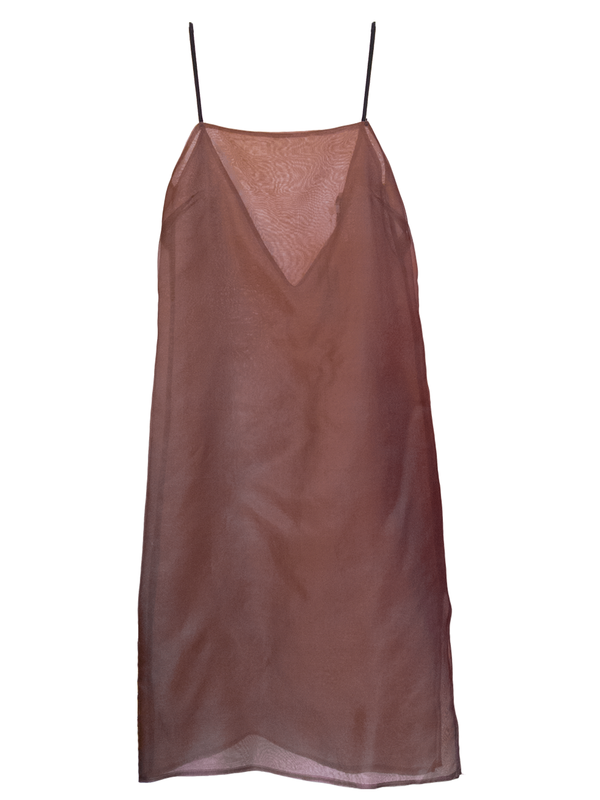 KAMPERETT Silk Organza Slip - Coffee