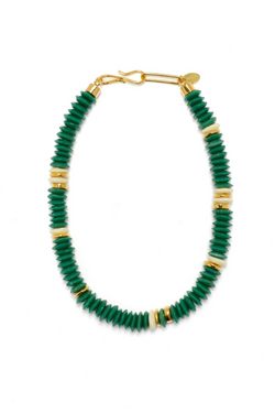 LIZZIE FORTUNATO Laguna Necklace in Hunter