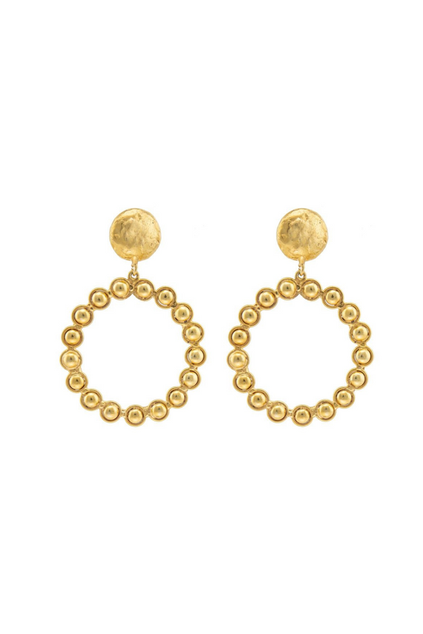 "SYLVIA TOLEDANO Earrings ""Happy"" / Gold"