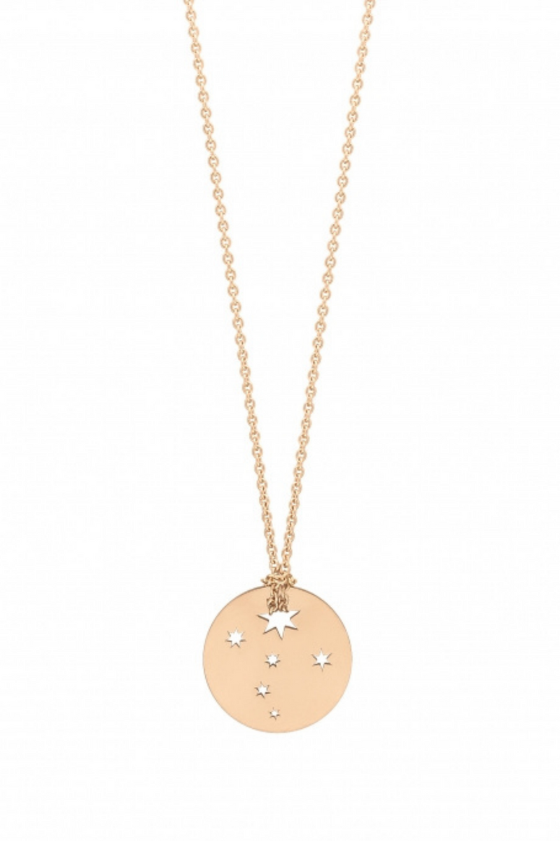 GINETTE NY Mini Milky Way Disc on Chain 18K Rose Gold