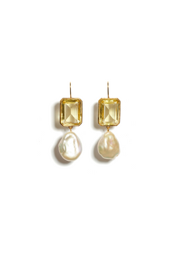 LIZZIE FORTUNATO Aegean Earrings in Lemon