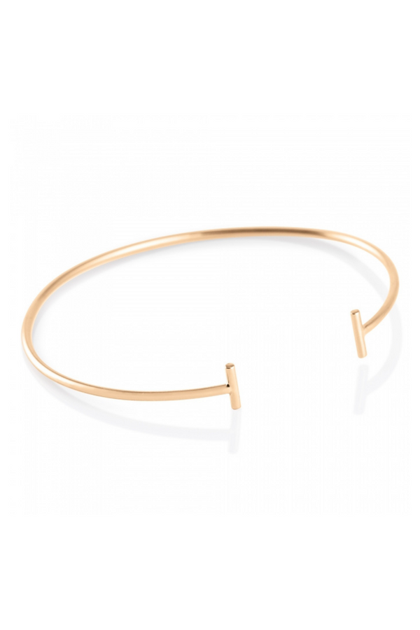 GINETTE NY Gold Strip Bangle 18K Rose Gold