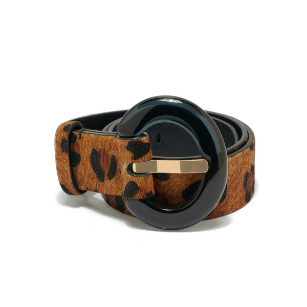 LIZZIE FORTUNATO Sophia Belt in Dark Leopard
