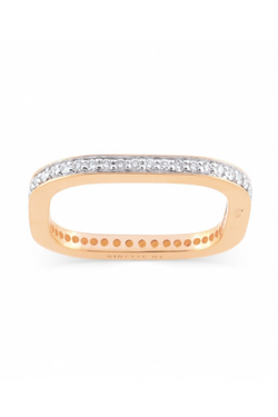 GINETTE NY Diamond TV Ring 18K Rose Gold