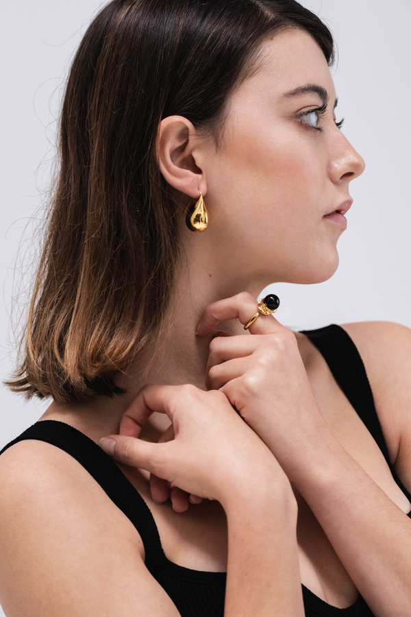 KHIRY Jug Gold Drop Earrings