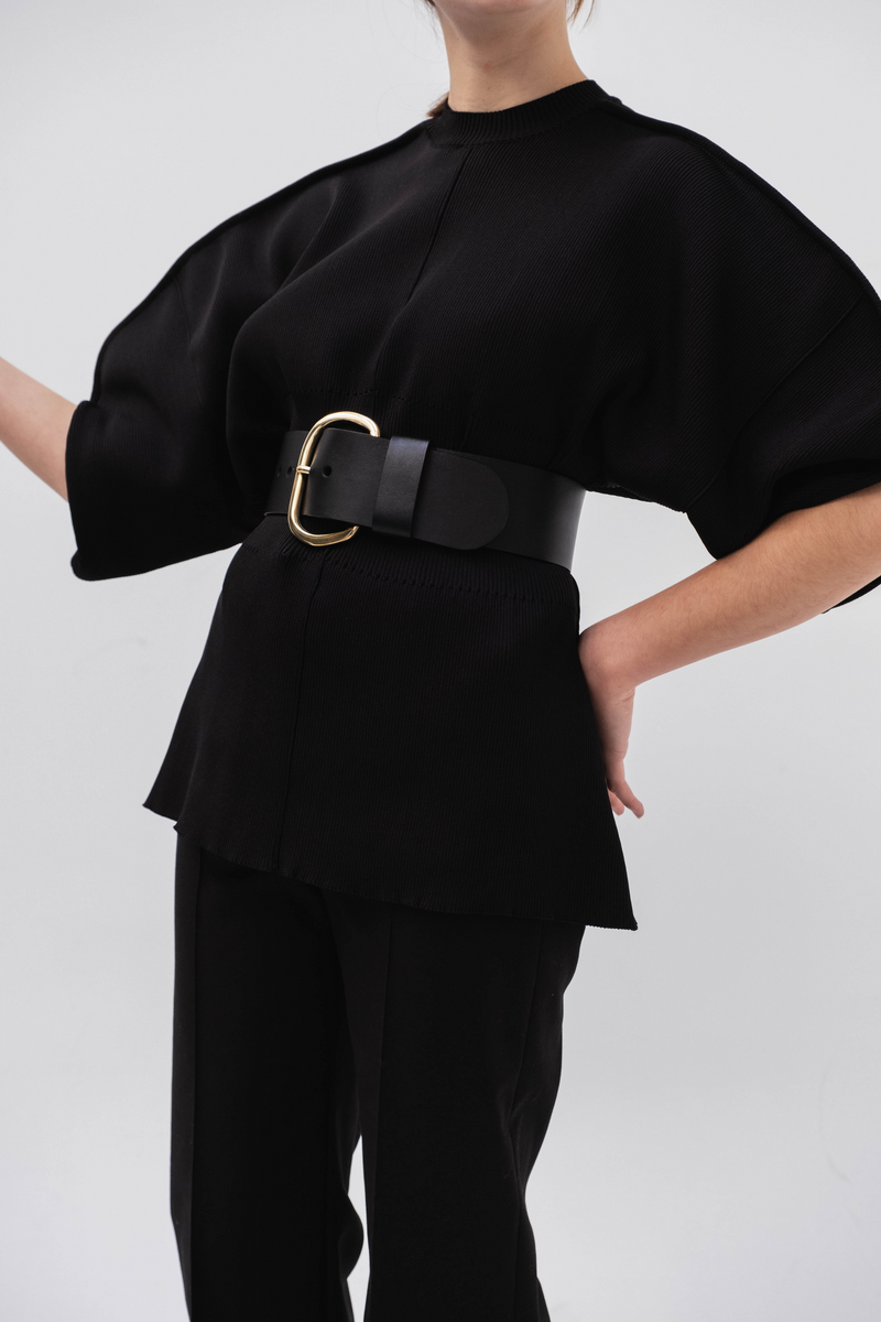 RACHEL COMEY Wide Estate Belt / Black