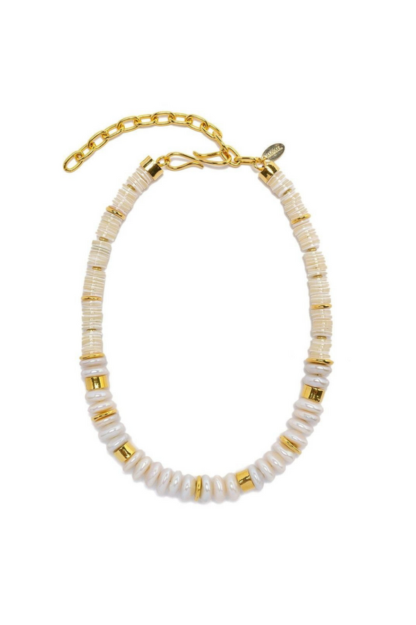 LIZZIE FORTUNATO Refresh Pearl Necklace