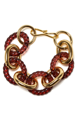 LIZZIE FORTUNATO Mirrored Sea Bracelet in Wine
