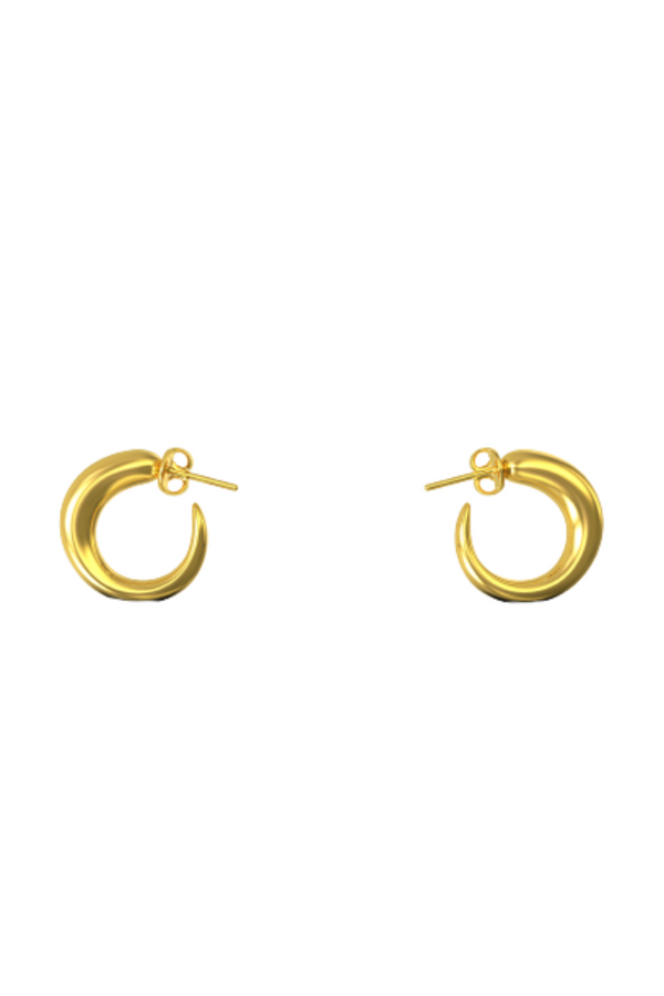KHIRY Tiny Khartoum Nude Hoops - Gold