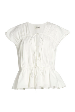 TOVE Thea Gathered Peplum Top