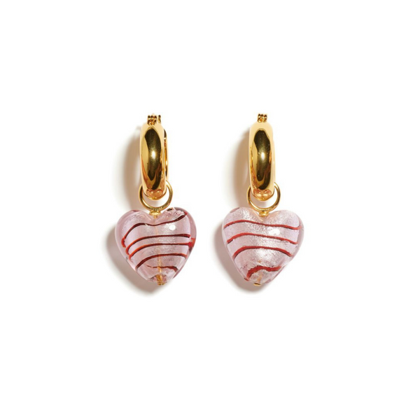LIZZIE FORTUNATO Infatuation Earrings in Pink