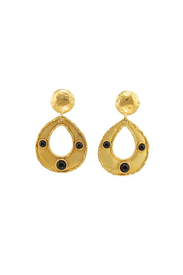 "SYLVIA TOLEDANO Earrings ""Thalita"" / Black Onyx"