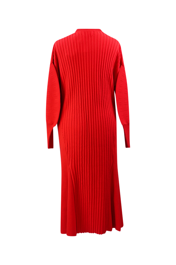 AKIRA NAKA Frida Knit Dress- Red