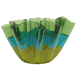 CORSI Medium Sfumati Vase- Clear Green/Matte Turquoise/Matte Green