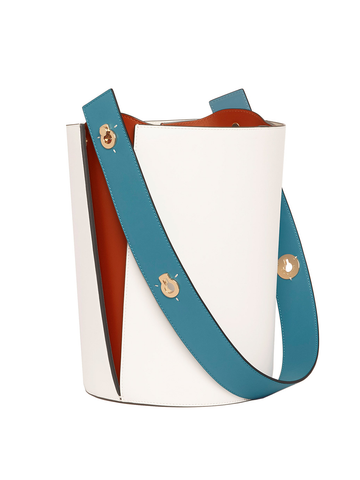 Danse Lente Mini Lorna Ice-Teal Bucket Bag