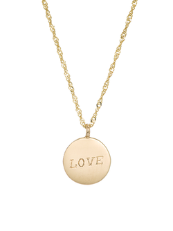 Ariel Gordon Demi Medallion Necklace