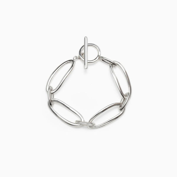 AGMES Dion Silver Chain Link Bracelet