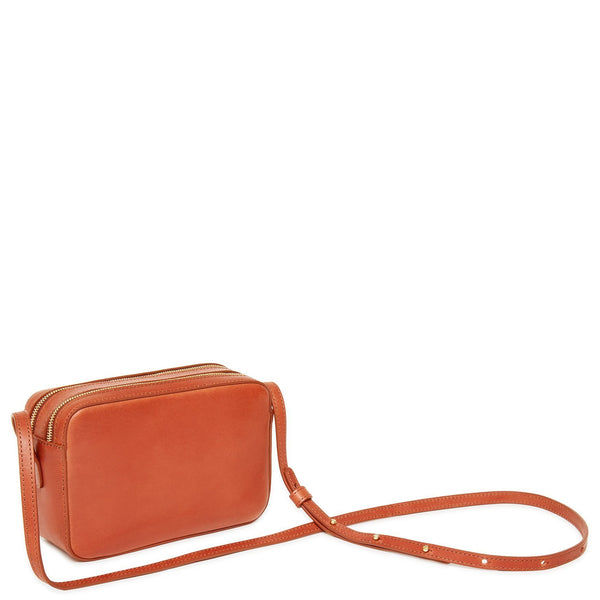 MANSUR GAVRIEL Vegetable Tanned Double Zip Crossbody - Brandy