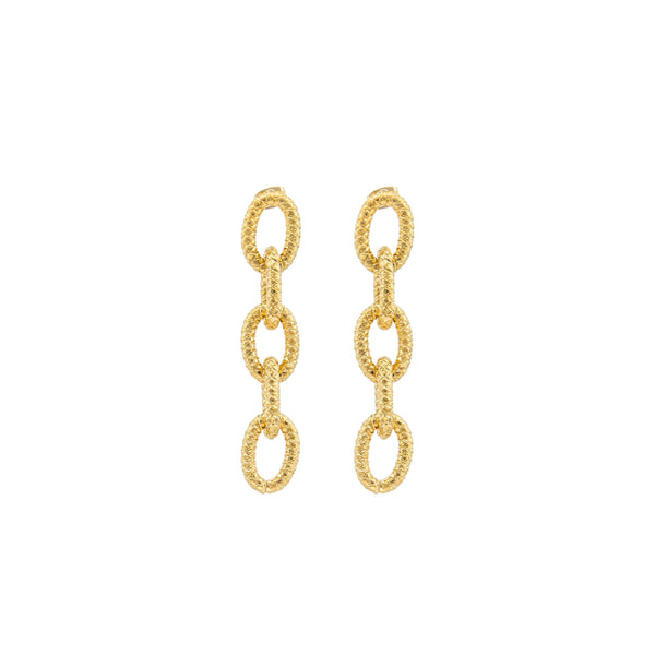 SYLVIA TOLEDANO Gold Links Earrings