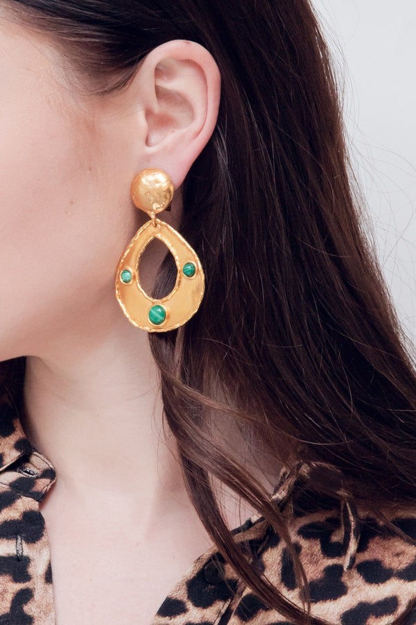 "SYLVIA TOLEDANO Earrings ""Thalita"" / Malachite"