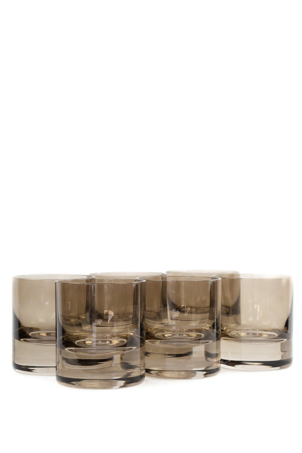 ESTELLE Rocks Glass Set - Grey Smoke