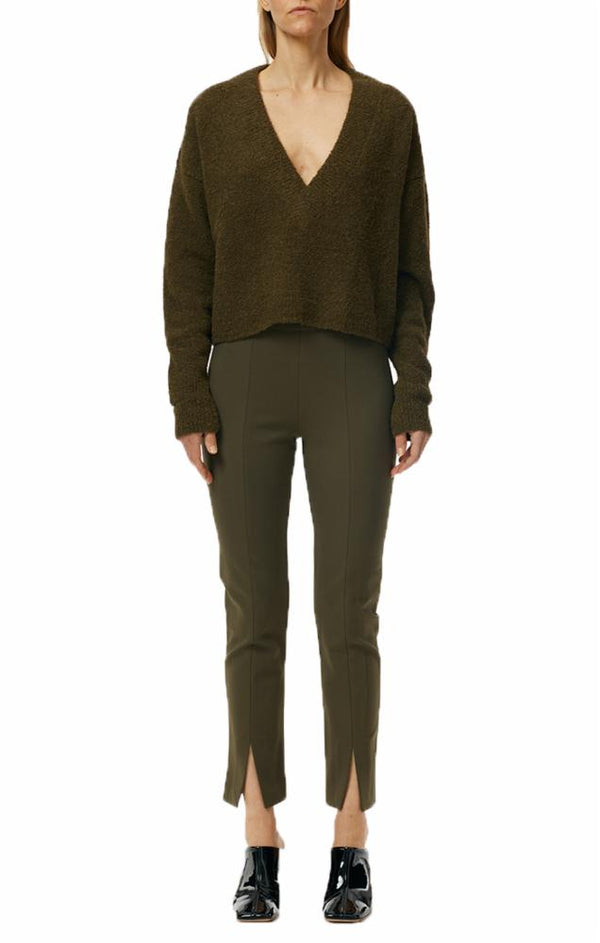 TIBI Bond Ankle Length Legging - Loden