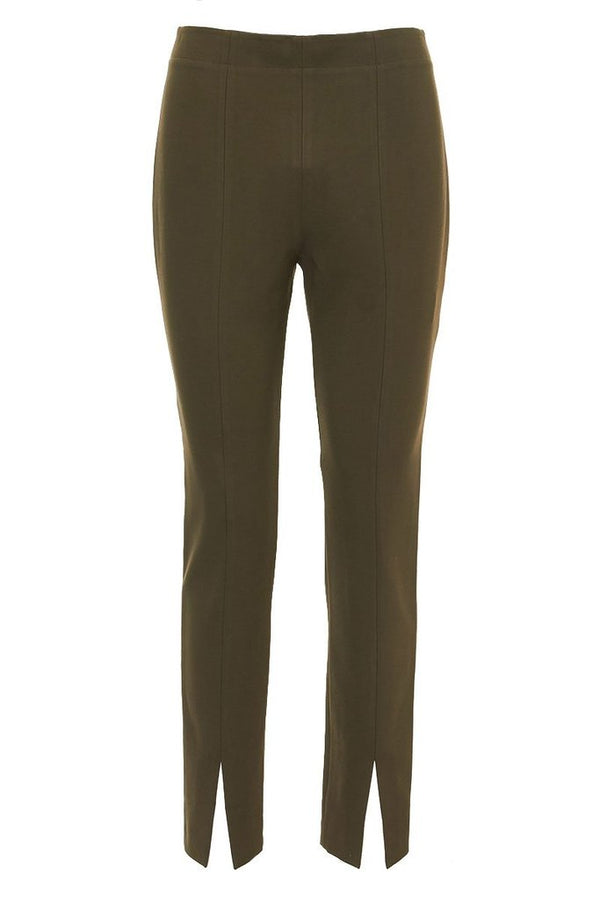 TIBI Bond Stretch Knit Ankle Length Legging - Loden