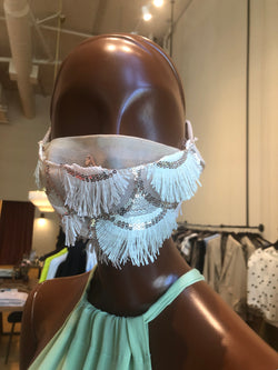 MCMULLEN Sequin Fringe Mask