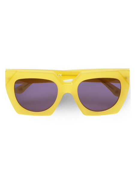 GANNI Dahlia Sunglasses - Minion Yellow