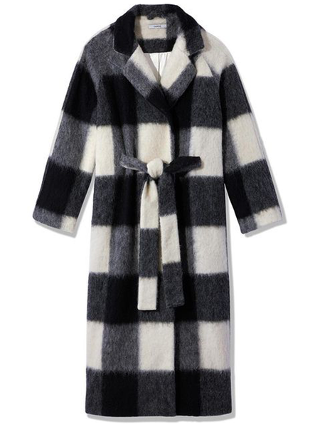 GANNI Pattern Wool Coat