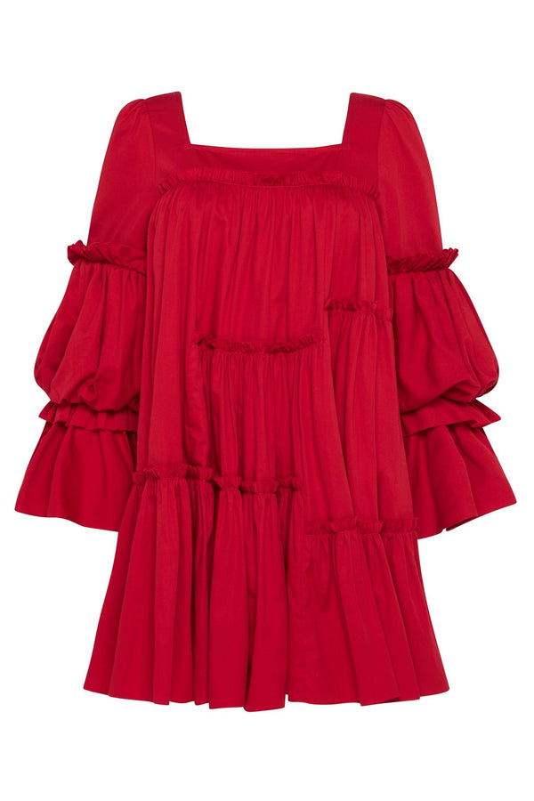 AJE L'Esprit Tiered Ruffle Mini Dress