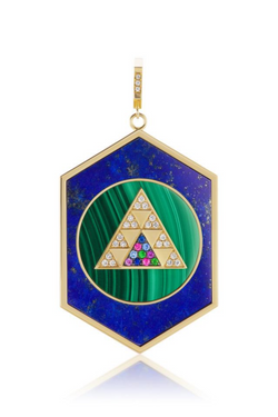 HARWELL GODFREY Dual Inlay Pendant in Malachite/Lapis