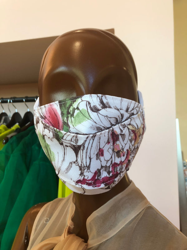 MCMULLEN Vintage Floral Upcycled Face Mask (Large size)