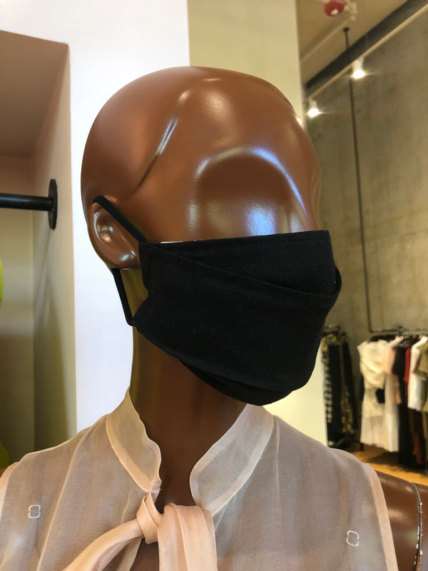 MCMULLEN Black Linen Face Mask