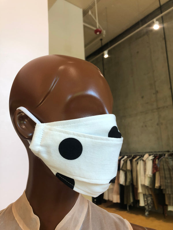 MCMULLEN Upcycled Woven Face Mask- Polka Dot