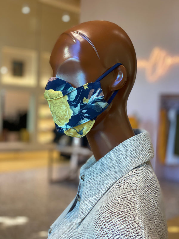 McMullen Upcycled Sea Floral Print Mask