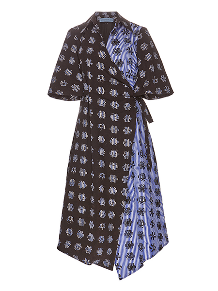 JONATHAN COHEN Heloise Cotton Block Print Dress