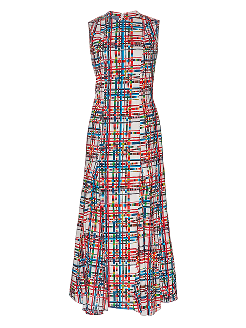 JONATHAN COHEN Striped Grid Anna Dress