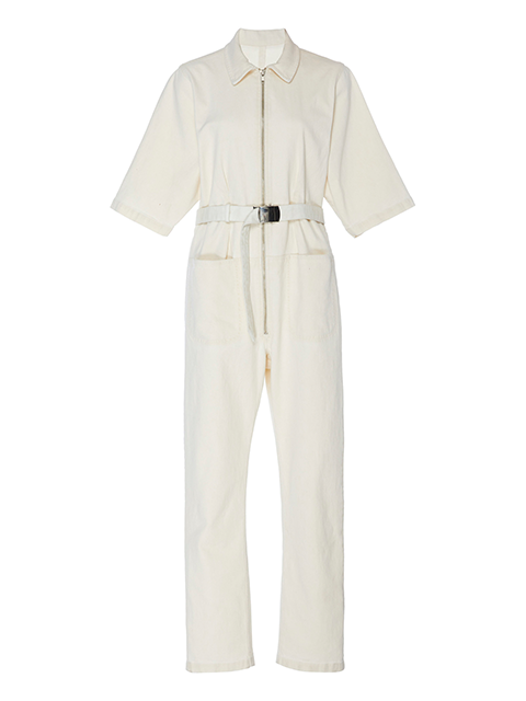 RACHEL COMEY Drill Jumpsuit - Dirty White