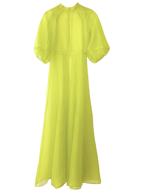 KAMPERETT Meiere Dress - Chartreuse