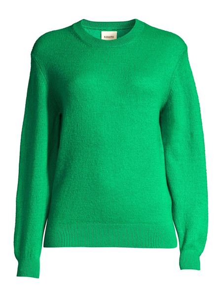 KHAITE Viola Crew Neck Sweater - Kelly Green