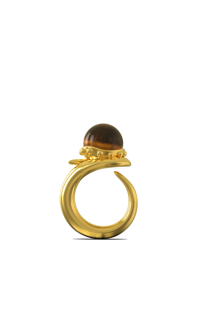 KHIRY Orb Ring - Tiger Eye
